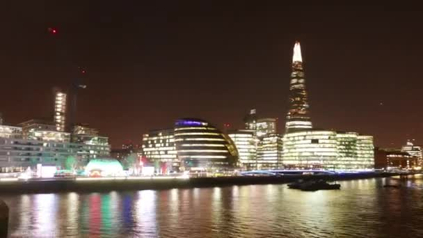 Time lapse shot of Skyline of London with the Shard