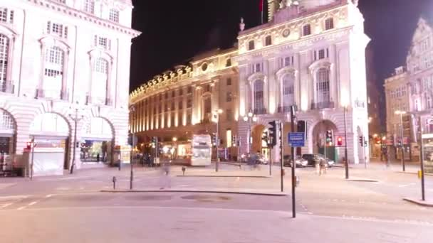 Time lapse shot of Piccadilly Circus London by night