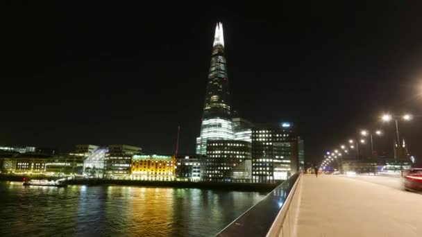 Time-lapse of The Shard and London Bridge by night
