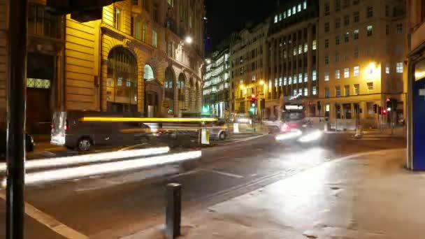 Time-lapse of London street traffic by night