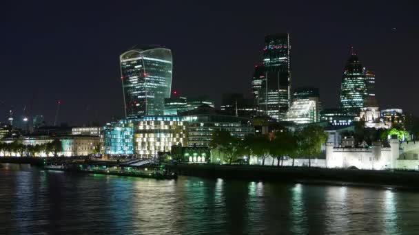 Time-lapse of City of London skyline by night
