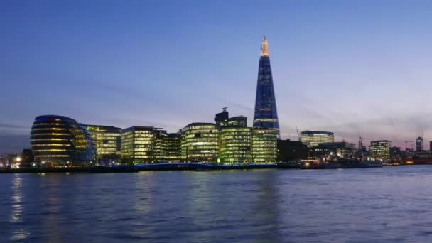 Time lapse shot of Skyline of London with City Hall and The Shard