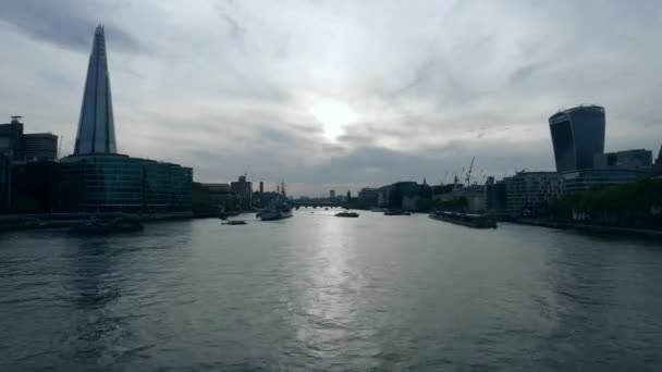 Time-lapse of River Thames and the Shard in the evening