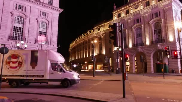 Time lapse shot of Regent street London by night