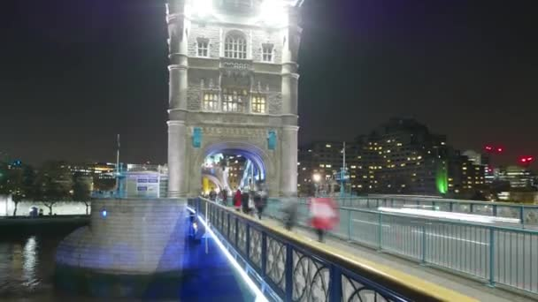 Time lapse shot of London Tower Bridge and City of London