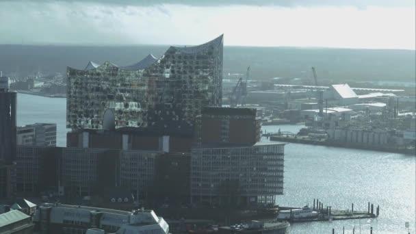 Moderne Gebäude Elbphilharmonie Hamburg Hafen Luftbild Hamburg Deutschland