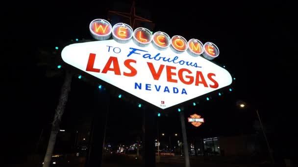 Slavná značka Vítejte v Las Vegas v noci - Las Vegas, Nevada/Usa