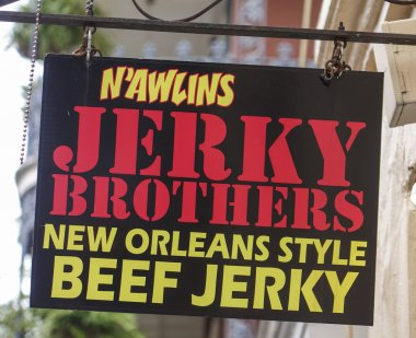 Famous Beef Jerky in New Orleans - NEW ORLEANS, LOUISIANA - APRIL 18, 2016