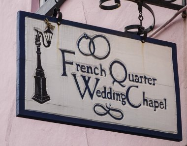 French Quarter Wedding chapel in New Orleans - NEW ORLEANS, LOUISIANA - APRIL 18, 2016