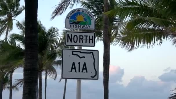 Street sign of A1A North