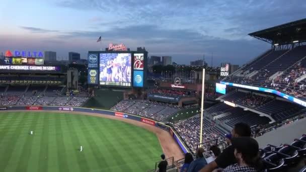 Crowded Turner Field baseball stadium - ATLANTA, UNITED STATES - JUNE 10, 2016