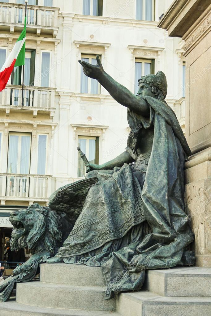 Maggio statue at San Mark square Venice - San Marco — Stock Photo ...