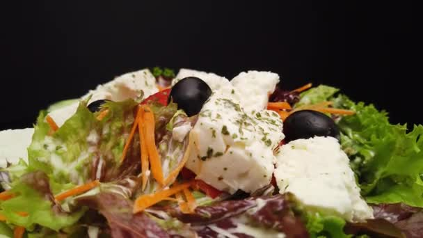 Fresh Greek Salad with feta chesse and olives