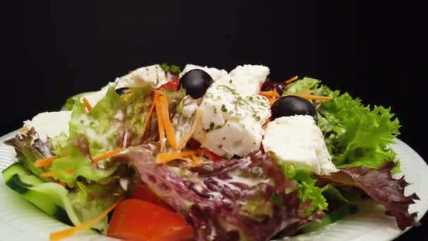 Fresh Feta Salad Greek style with olives