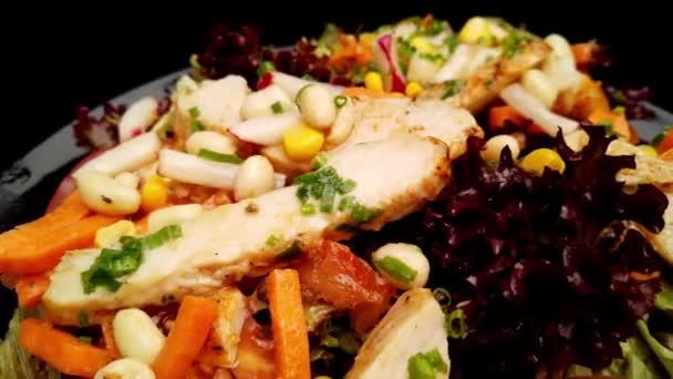 Chicken salad freshly made - close up shot