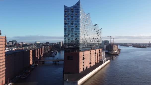 Berühmte Hamburger Elbphilharmonie im Hafen