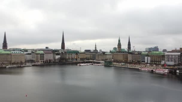 Schöne Hamburger Innenstadt mit Alster