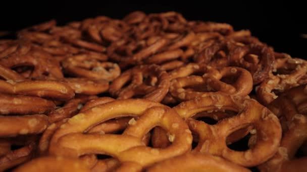 Salty Pretzels snack - macro shot