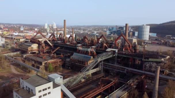 Altes Fabrikgelände in Deutschland - Welterbe Völklinger Hütte