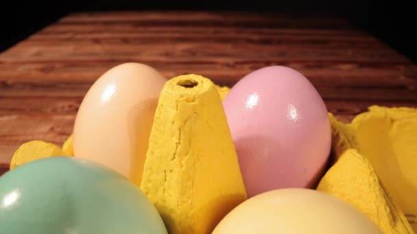A variety of colorful Easter eggs