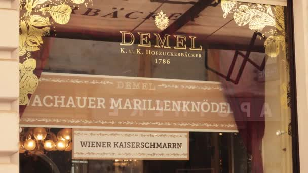 Famous cafe and bakery Demel in Vienna - VIENNA, AUSTRIA, EUROPE - AUGUST 1, 2021