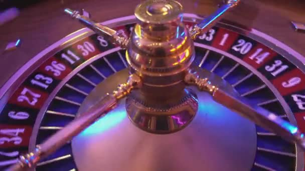 Roulette Wheel in a casino - spinning wheel