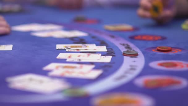 Close up of a typical Black Jack table during a game