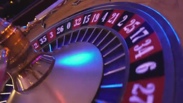 Turning Roulette Wheel in a casino - perspective view