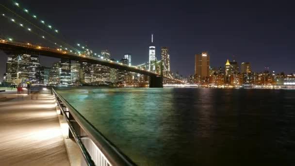 New York Brooklyn Bridge And Manhattan Skyline Time Lapse Shot By