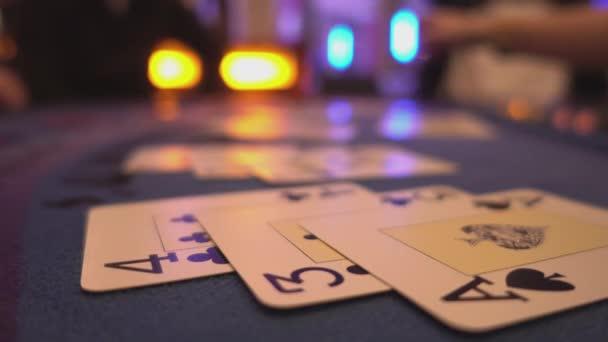 Blackjack-Casino-Spiel - Nahaufnahme Blick auf Karten
