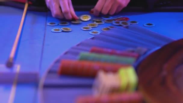 Ruletě v Casinu - řazení herní čipy