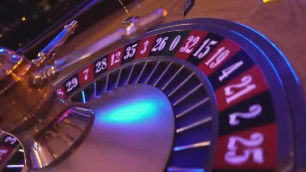 Roulette Wheel in a casino - perspective view