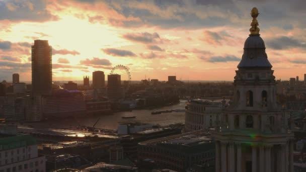 London at sunset - amazing aerial shot
