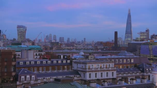 Amazing London skyline - view from a rooftop in the evening