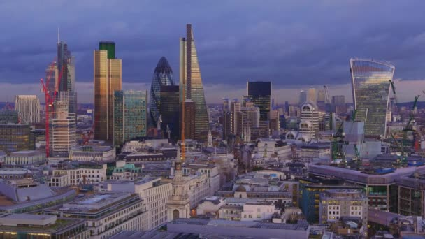 City of London skyline - the financial district - famous office buildings