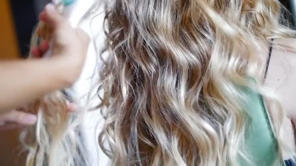 Young Girl Doing A Perm On Hair
