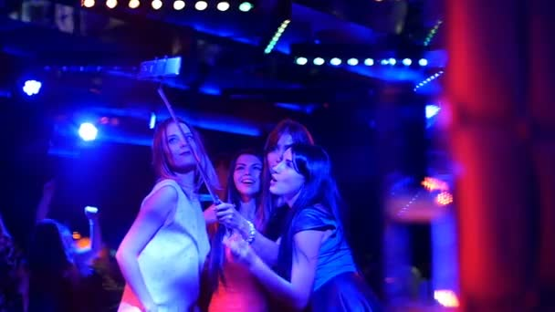 beautiful girl at the party make selfie - disco birthday