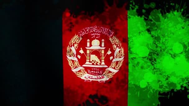 Afghanistan flag. Afghan flag is waving in the wind. Afghanistan National Flag. 3d seamless loop animation. High quality 4k footage