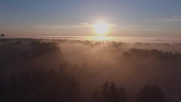 Letecká 4k: ranní mlha