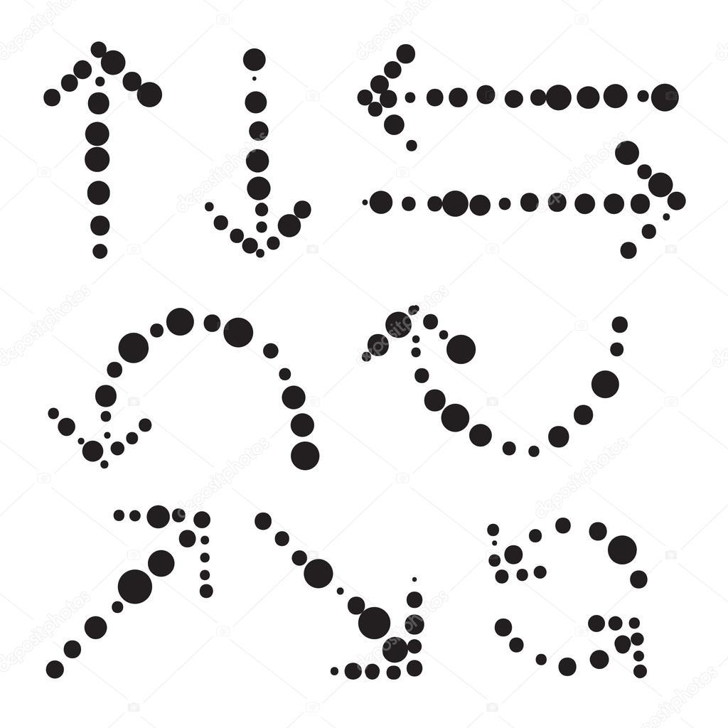 Illustratio Ikony Mnozin Rucne Kreslenou Vektorove Sipky Stock