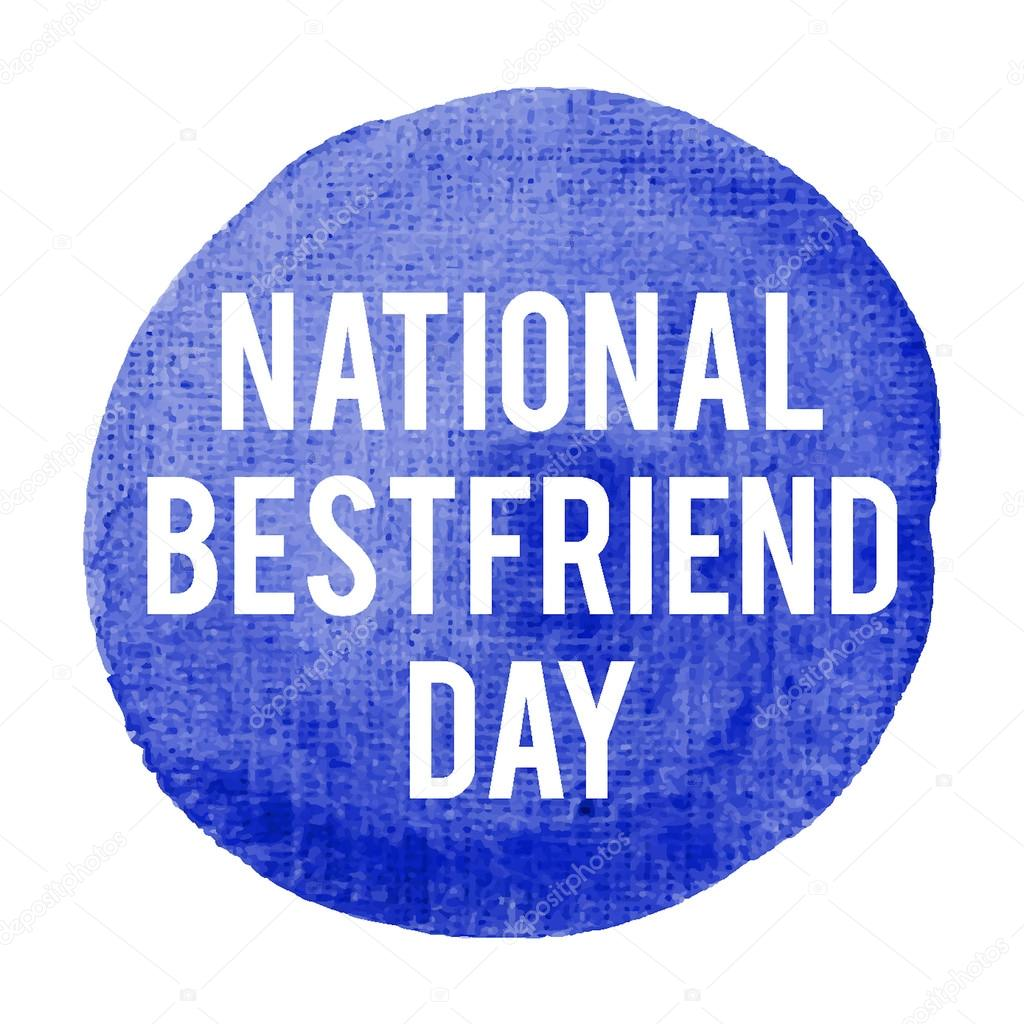 National Best friend Day Holiday, celetion, card, poster, logo ...