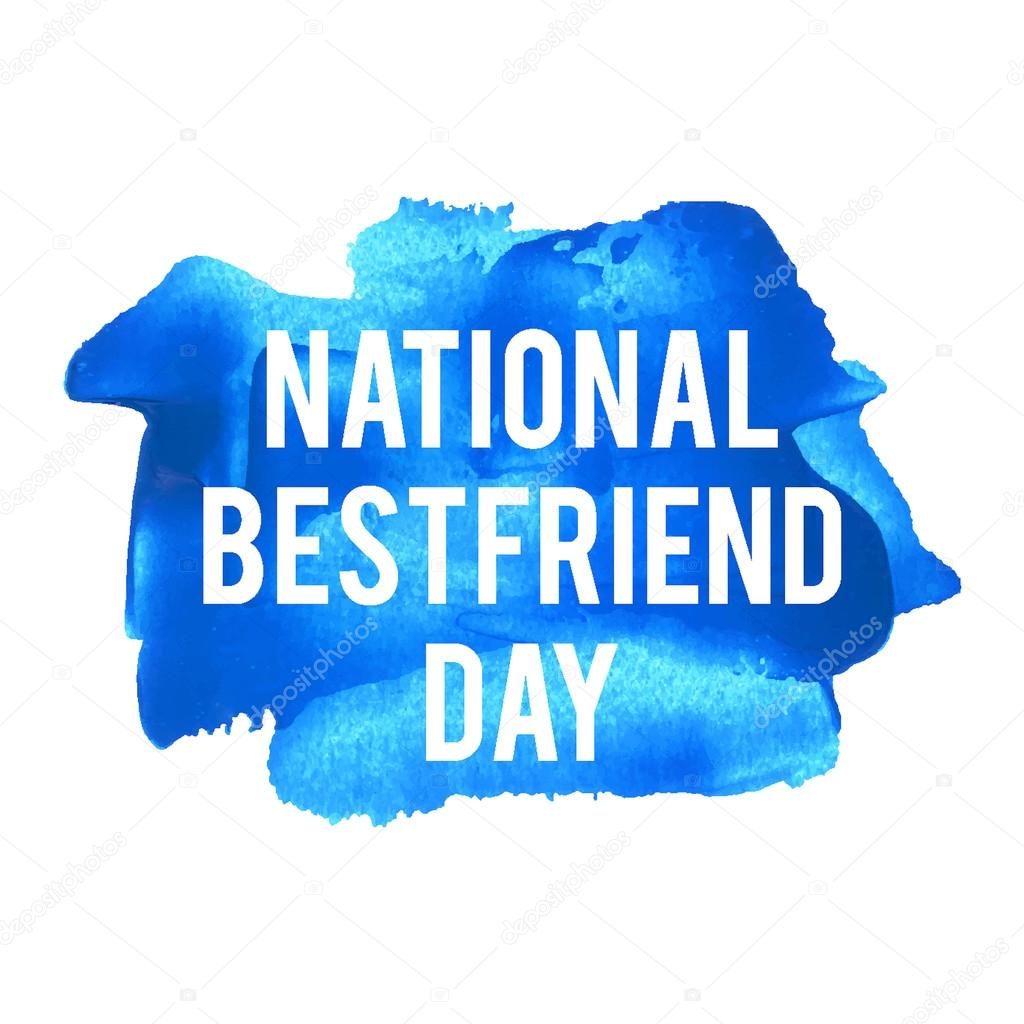 National Best friend Day Holiday, celetion, card, poster, log ...