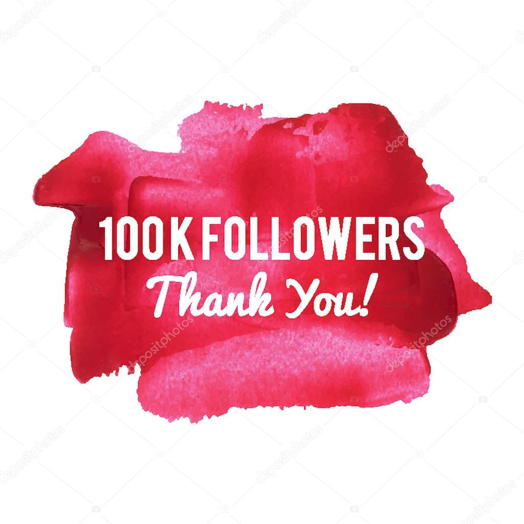 100k Followers Thank You Card For Network Friends And Followers