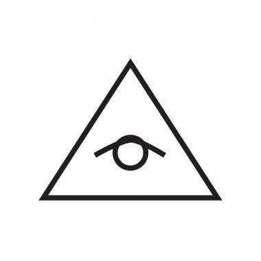 All seeing eye pyramid vector line illustration, icon, symbol, p