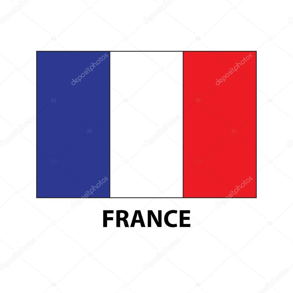 Icona Di Vettore Di Bandiera Francese Bandiera Della Francia Verde