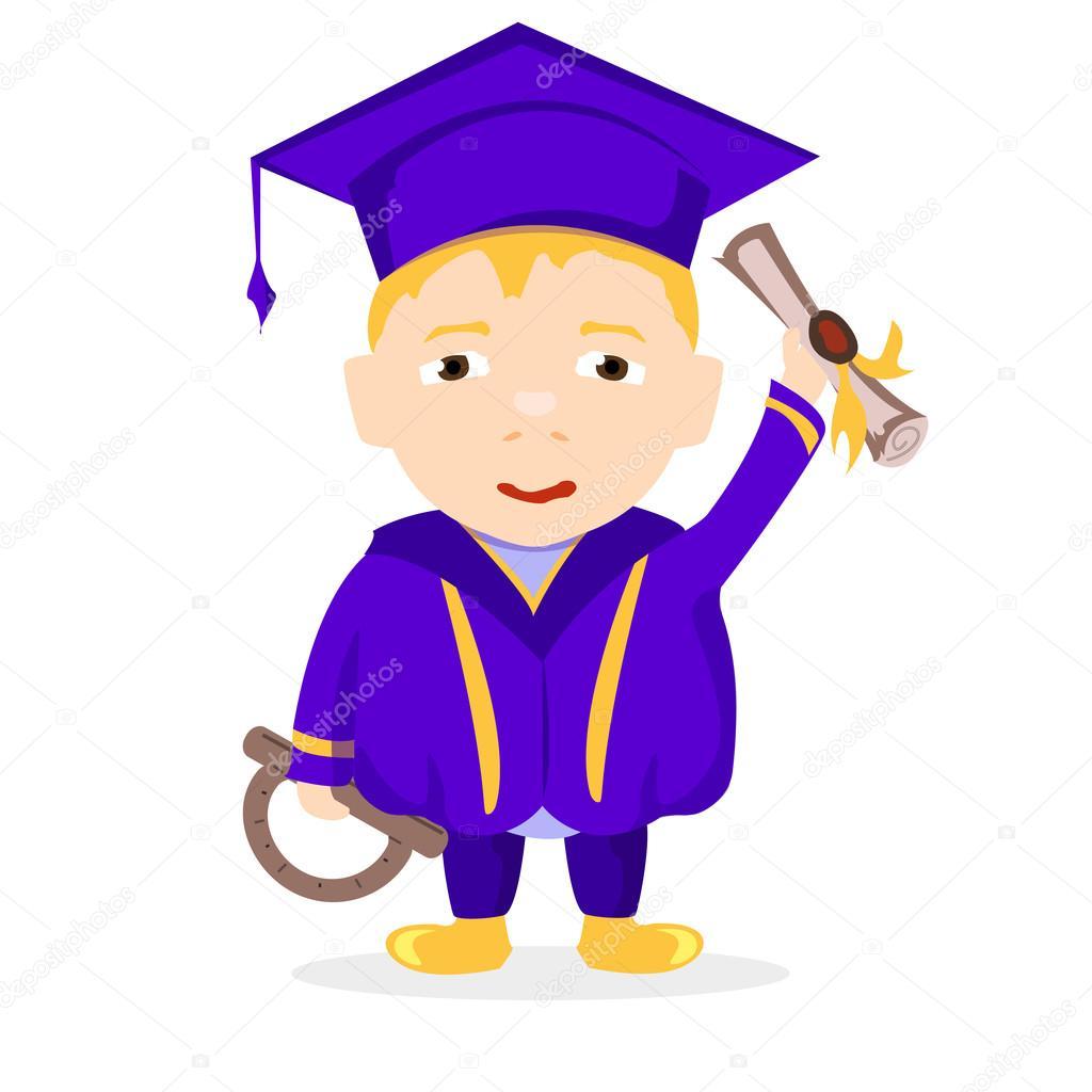 College Absolvent Im Mantel Stockvektor C Evgenchi 100109082