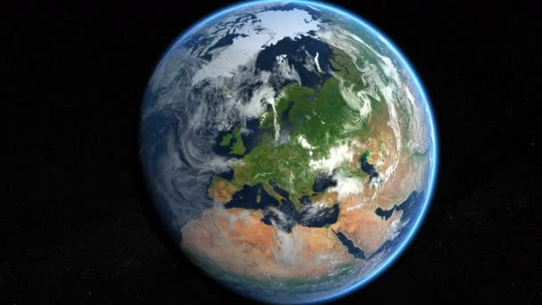 Europe from space. Zoom to Europe. Earth From Space.