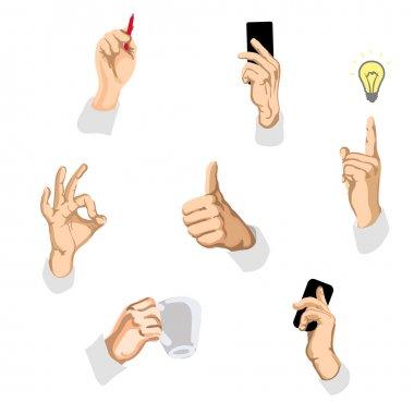 Vector illustration of gestures