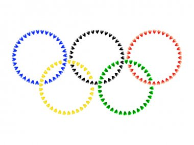 Vector illustration of Olympic rings.
