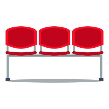 Vector illustration of plastic seat